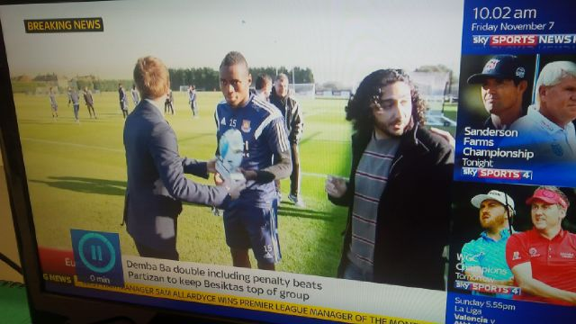 With Diafra Sakho as a French consecutive interpreter as seen on Sky Sports