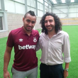 Marc Joss consecutive football interpreter at West Ham training ground