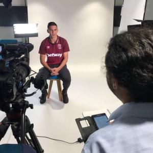 Marc Joss Spanish English consecutive interpreter with Fabian Balbuena in July 2018