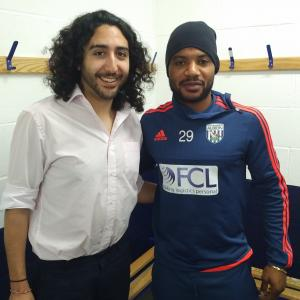 Marc Joss, French-English football interpreter with West Bromwich Albion's Stéphane Sessègnon