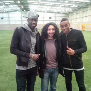 Marc Joss, French consecutive interpreter with West Ham's Cheikh Kouyaté and Diafra Sakho, football interpreter