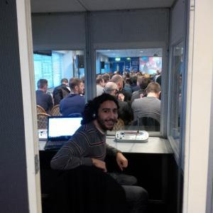 Marc Joss football interpreter at Goodison Park