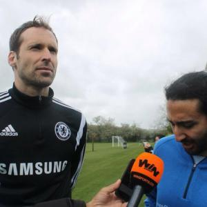 Marc Joss consecutive football interpreter at Chelsea training ground