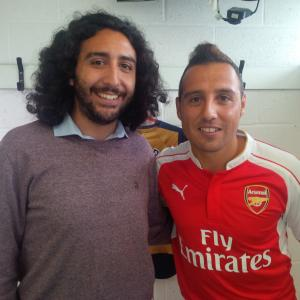 Marc Joss consecutive football interpreter at Arsenal training ground