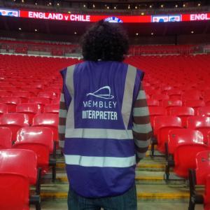 Marc Joss football interpreter at Wembley