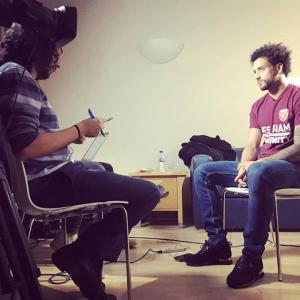 Marc Joss Portuguese English consecutive interpreter with Felipe Anderson in December 2018
